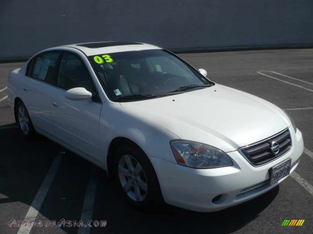 2003 nissan altima 25 sl in satin white pearl 120025 autos of satin white pearl charcoal nissan altima 25 sl vanachro Choice Image