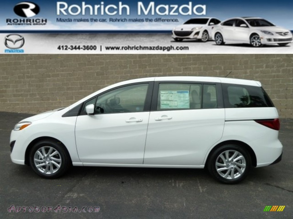 2012 mazda mazda5 sport in crystal white pearl mica 114786 autos of asia japanese and. Black Bedroom Furniture Sets. Home Design Ideas