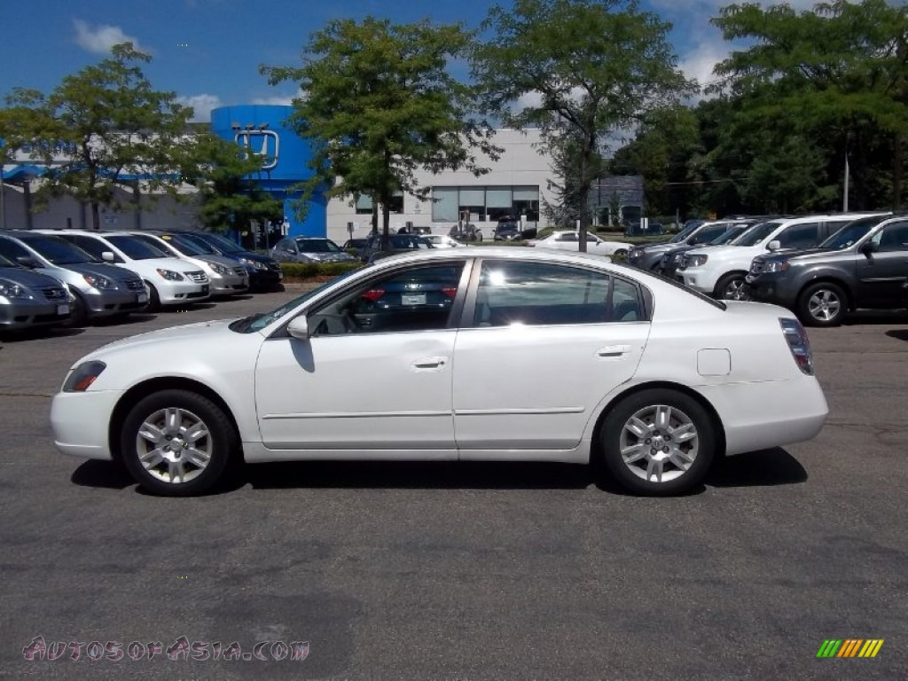 2005 nissan altima 2 5 s in satin white pearl 173384 autos of asia japanese and korean. Black Bedroom Furniture Sets. Home Design Ideas