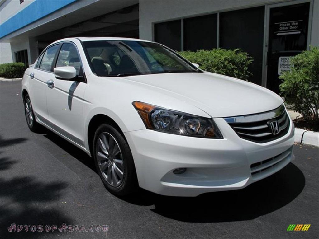 2011 Honda Accord Ex L V6 Sedan In White Orchid Pearl