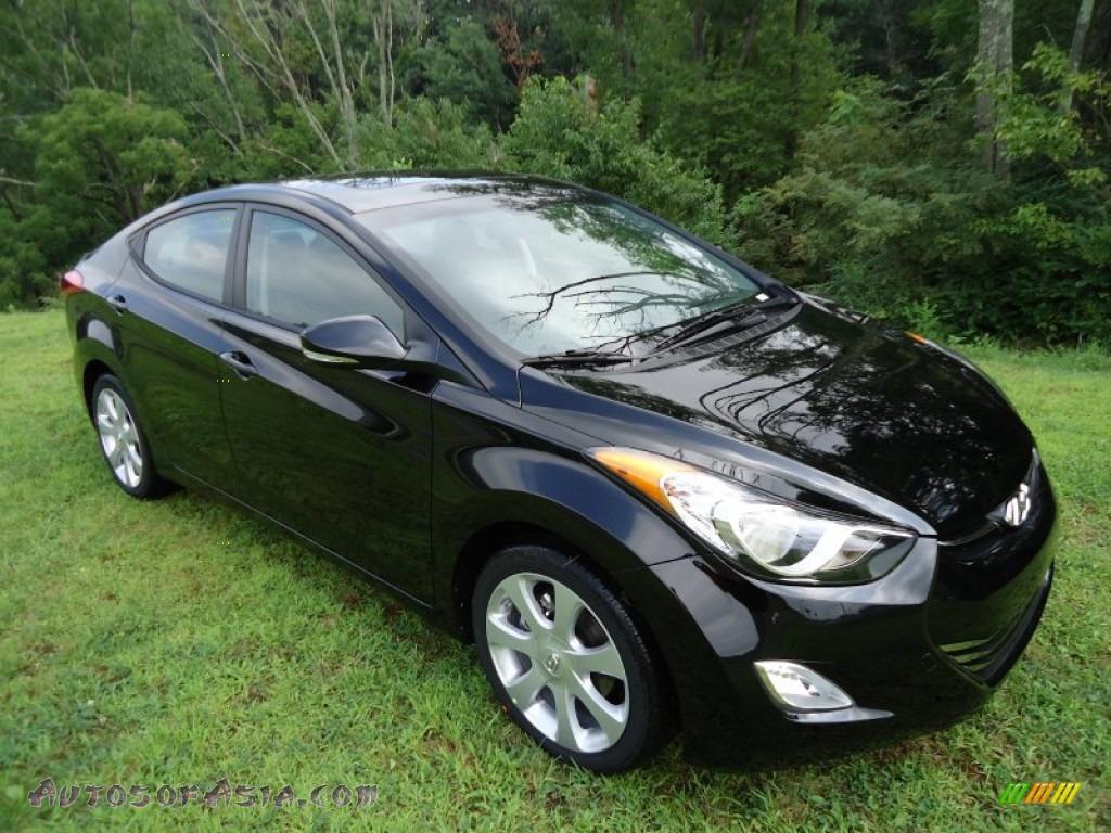 2012 Hyundai Elantra Limited In Black Noir Pearl 228931