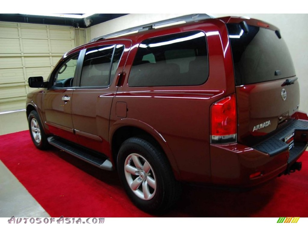 2010 Nissan Armada Se In Tuscan Sun Red Pearl Photo 4