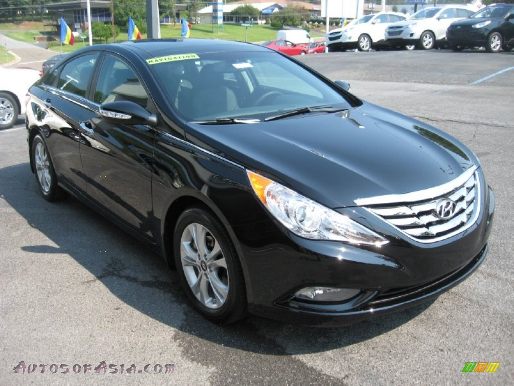 2012 hyundai sonata limited in midnight black photo 4 342426 autos of asia japanese and. Black Bedroom Furniture Sets. Home Design Ideas