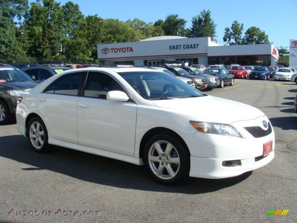 2009 toyota camry se in super white 852426 autos of asia japanese and korean cars for sale
