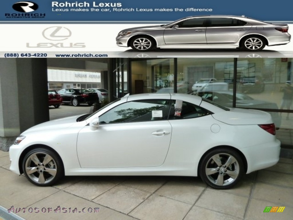 2011 lexus is 250c convertible in starfire white pearl 519920 autos of asia japanese and. Black Bedroom Furniture Sets. Home Design Ideas