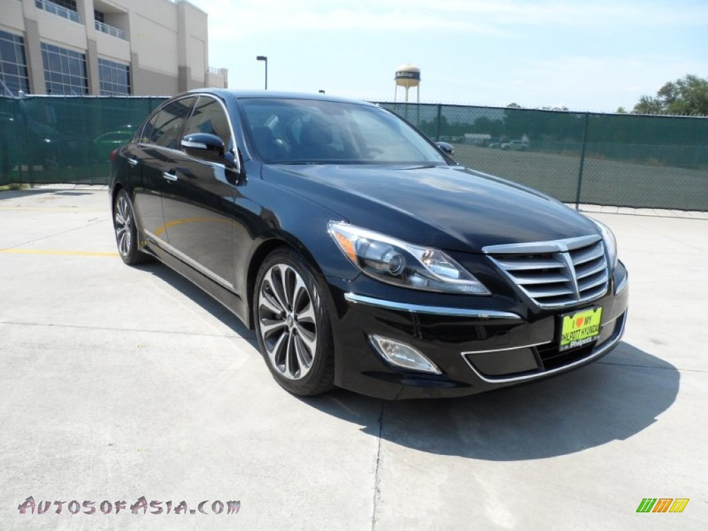 2012 hyundai genesis 5 0 r spec sedan in black noir pearl 162849 autos of asia japanese. Black Bedroom Furniture Sets. Home Design Ideas