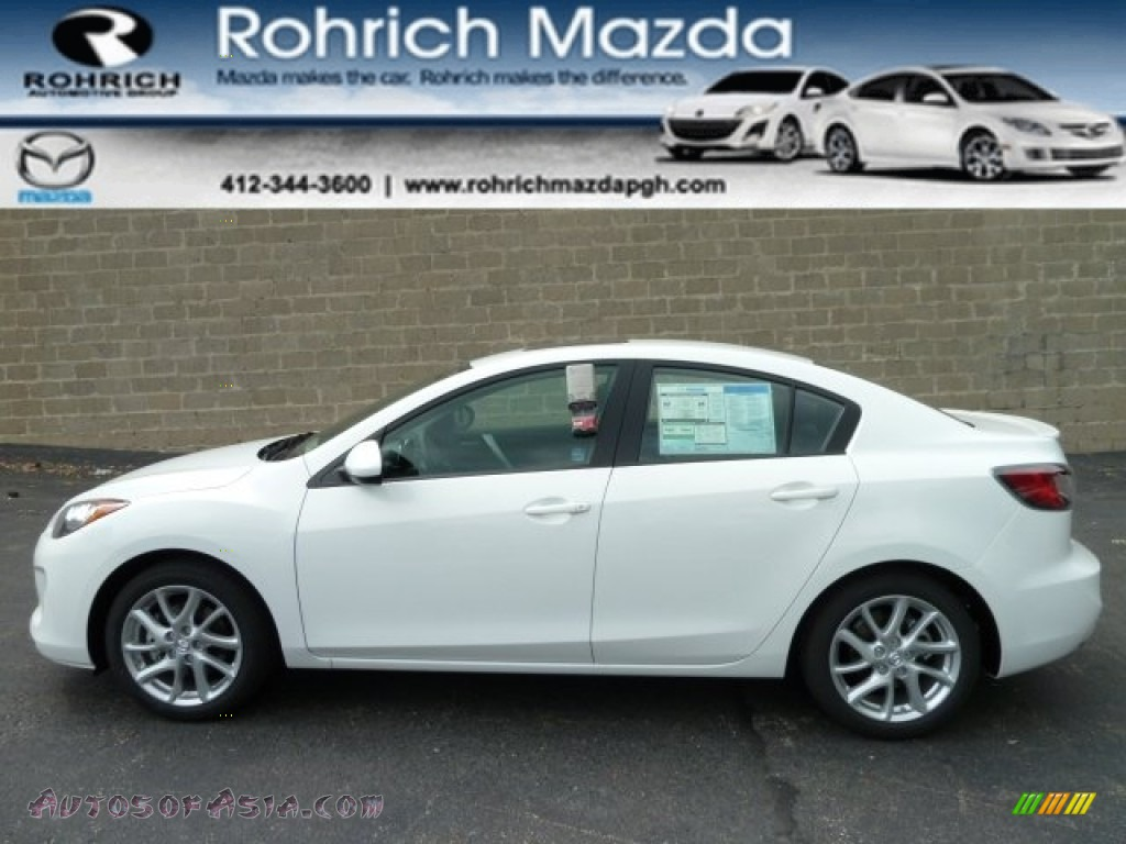 2012 mazda mazda3 s grand touring 4 door in crystal white pearl mica 512190 autos of asia. Black Bedroom Furniture Sets. Home Design Ideas