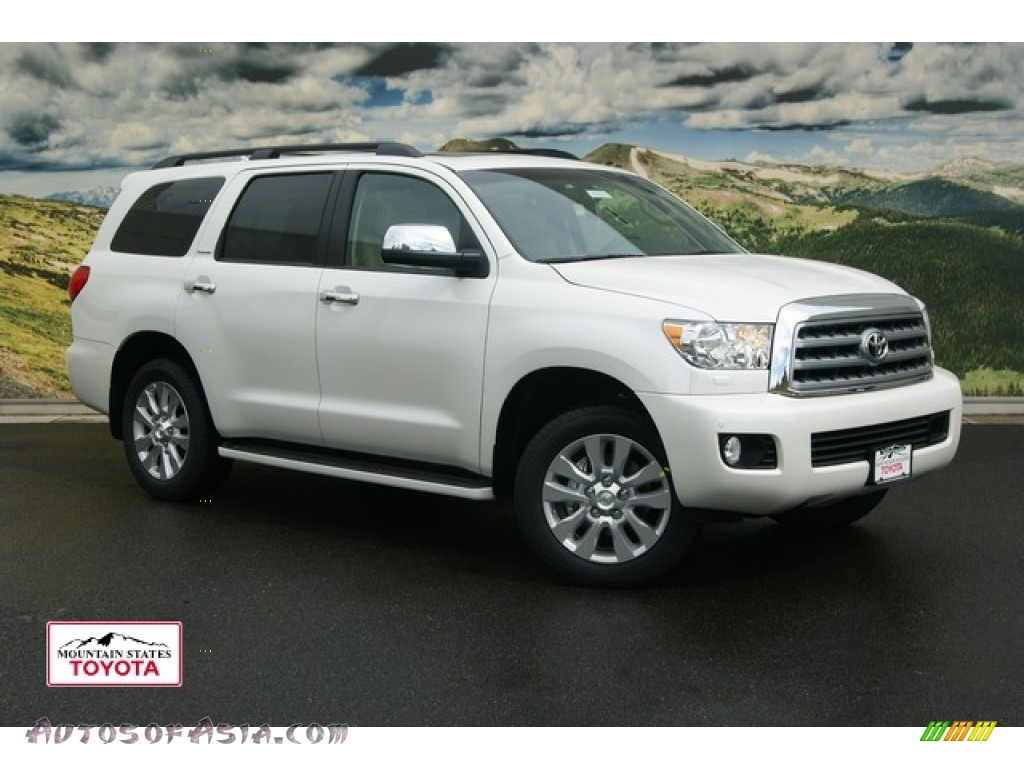 2012 toyota sequoia platinum 4wd in blizzard white pearl 055625 autos of asia japanese and. Black Bedroom Furniture Sets. Home Design Ideas