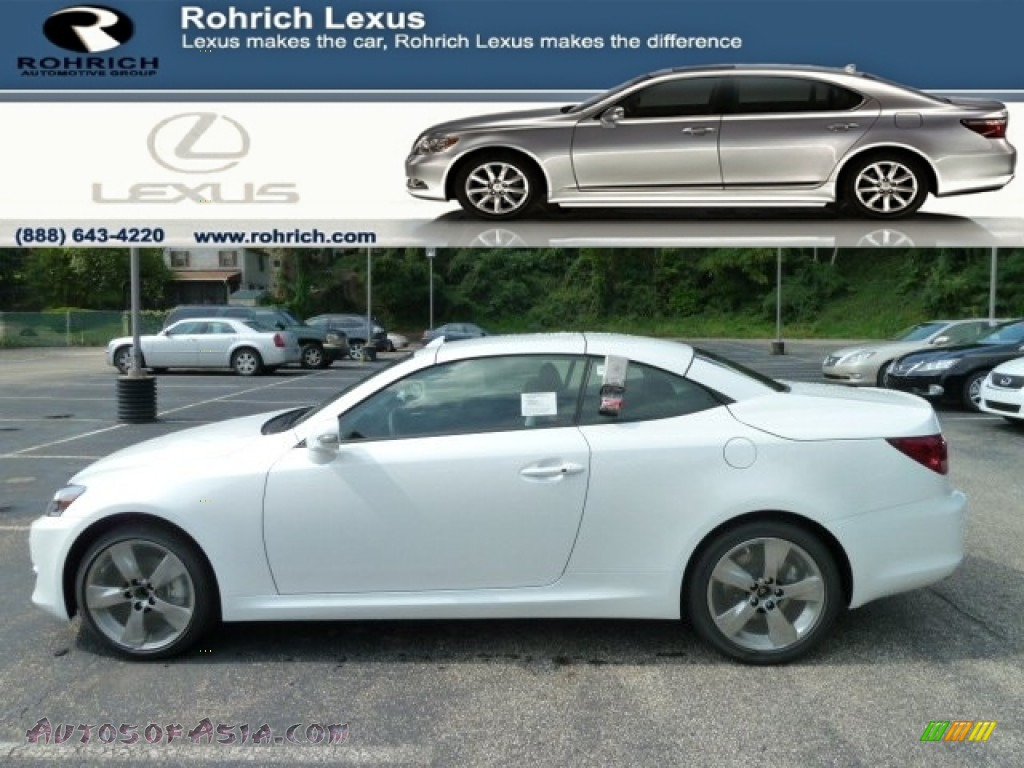 2011 lexus is 250c convertible in starfire white pearl. Black Bedroom Furniture Sets. Home Design Ideas