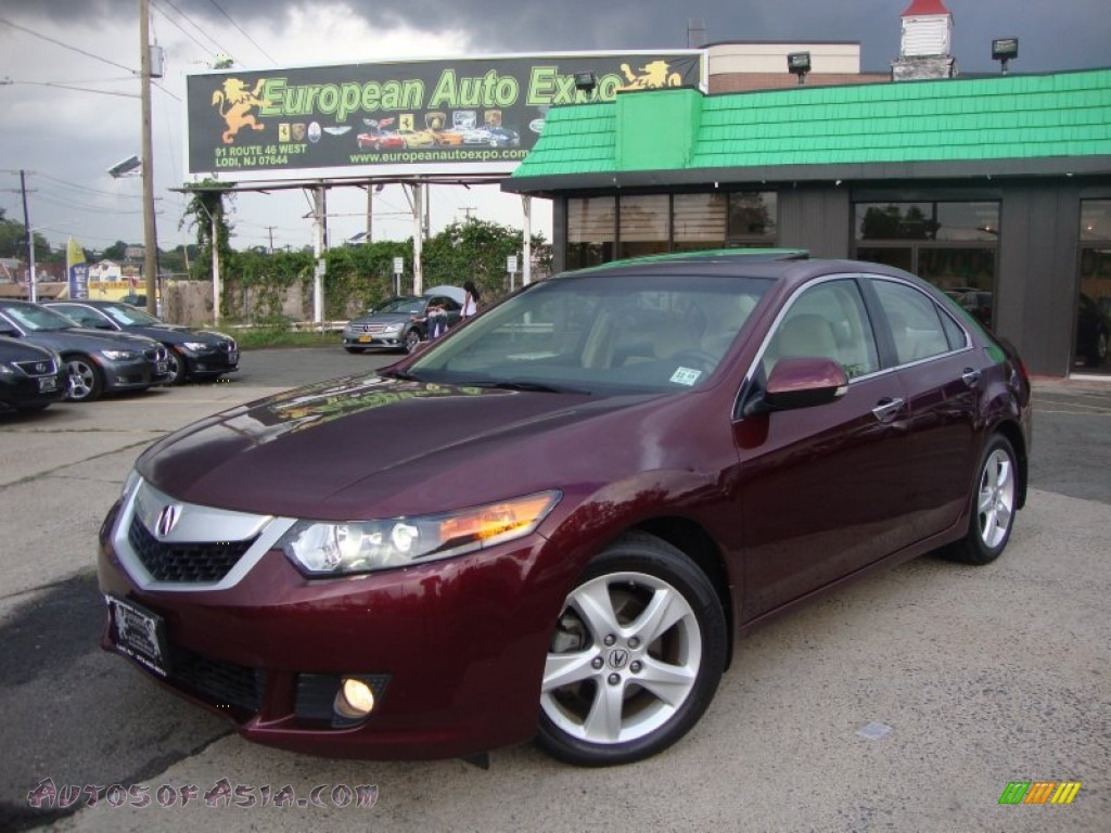 2010 Acura Tsx Sedan In Basque Red Pearl Photo 15