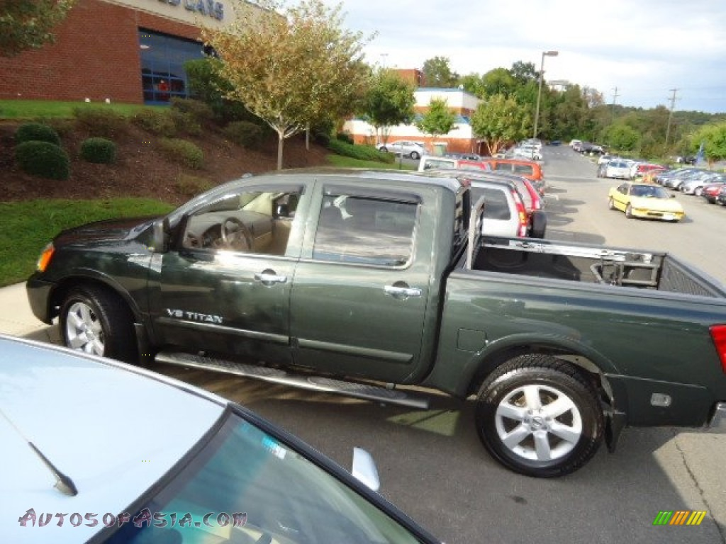 Brown Toyota Charlottesville >> 2008 Nissan Titan LE Crew Cab in Timberline Green photo #4 - 302536 | Autos of Asia - Japanese ...