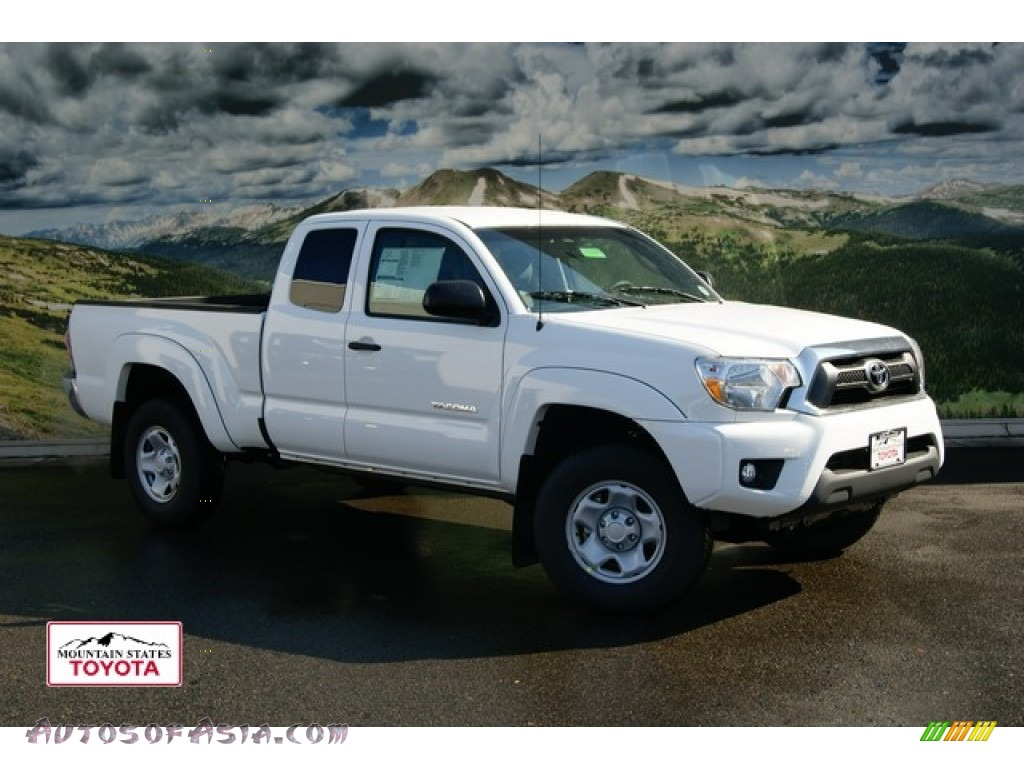 2012 toyota tacoma v6 sr5 access cab 4x4 in super white 025682 autos of asia japanese and. Black Bedroom Furniture Sets. Home Design Ideas