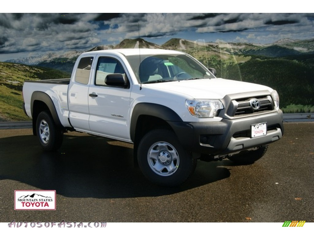 2012 toyota tacoma access cab 4x4 in super white 010068 autos of asia japanese and korean. Black Bedroom Furniture Sets. Home Design Ideas