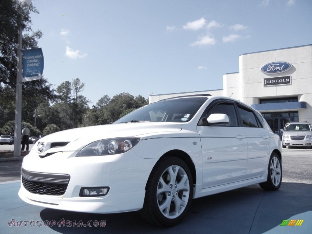 2007 mazda mazda3 s grand touring hatchback in rally white 679252 autos of asia japanese. Black Bedroom Furniture Sets. Home Design Ideas