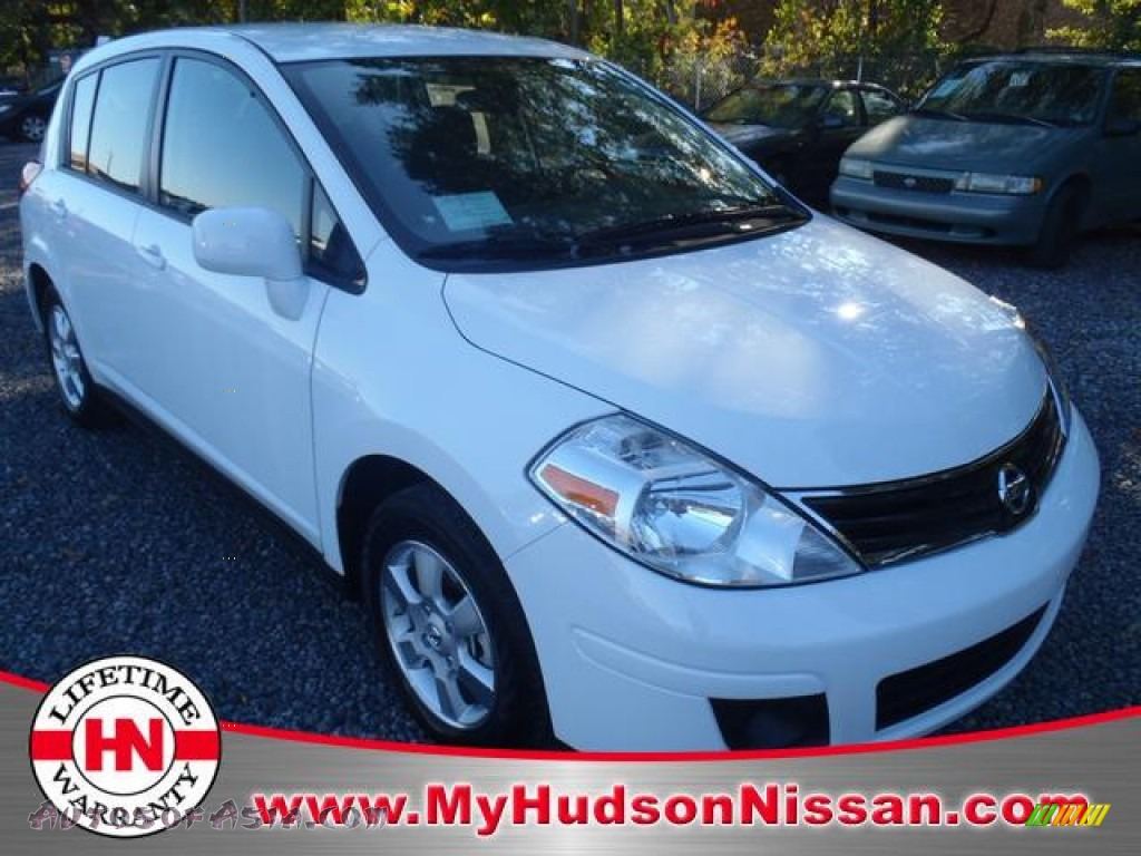 2012 nissan versa 1 8 s hatchback in fresh powder white 202612 autos of asia japanese and. Black Bedroom Furniture Sets. Home Design Ideas