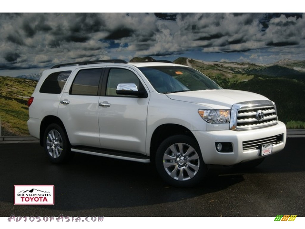 2012 toyota sequoia platinum 4wd in blizzard white pearl 058209 autos of asia japanese and. Black Bedroom Furniture Sets. Home Design Ideas