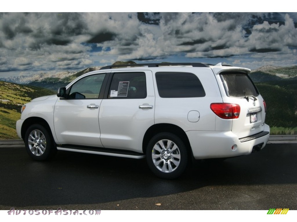 2012 toyota sequoia platinum 4wd in blizzard white pearl photo 3 058209 autos of asia. Black Bedroom Furniture Sets. Home Design Ideas