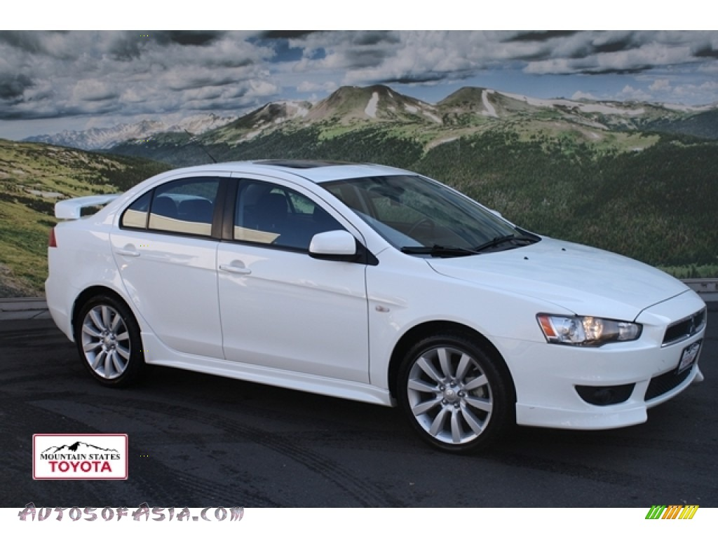 2009 mitsubishi lancer gts in wicked white satin 034996 autos of asia japanese and korean. Black Bedroom Furniture Sets. Home Design Ideas