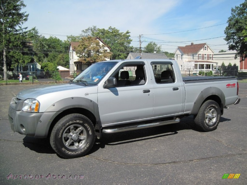 2003 nissan frontier xe v6 crew cab 4x4 in silver ice. Black Bedroom Furniture Sets. Home Design Ideas