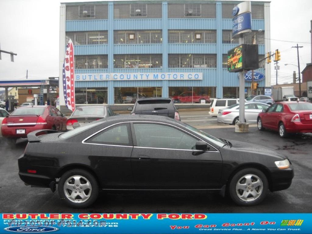 1999 Honda Accord Ex V6 Coupe In Flamenco Black Pearl 020985 Charcoal