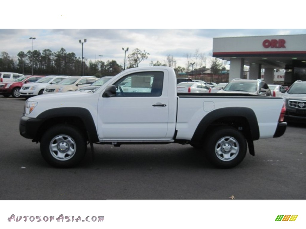 2012 Toyota Tacoma Regular Cab 4x4 In Super White 008199