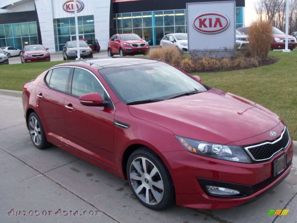 2012 kia optima sx in spicy red 026548 autos of asia. Black Bedroom Furniture Sets. Home Design Ideas