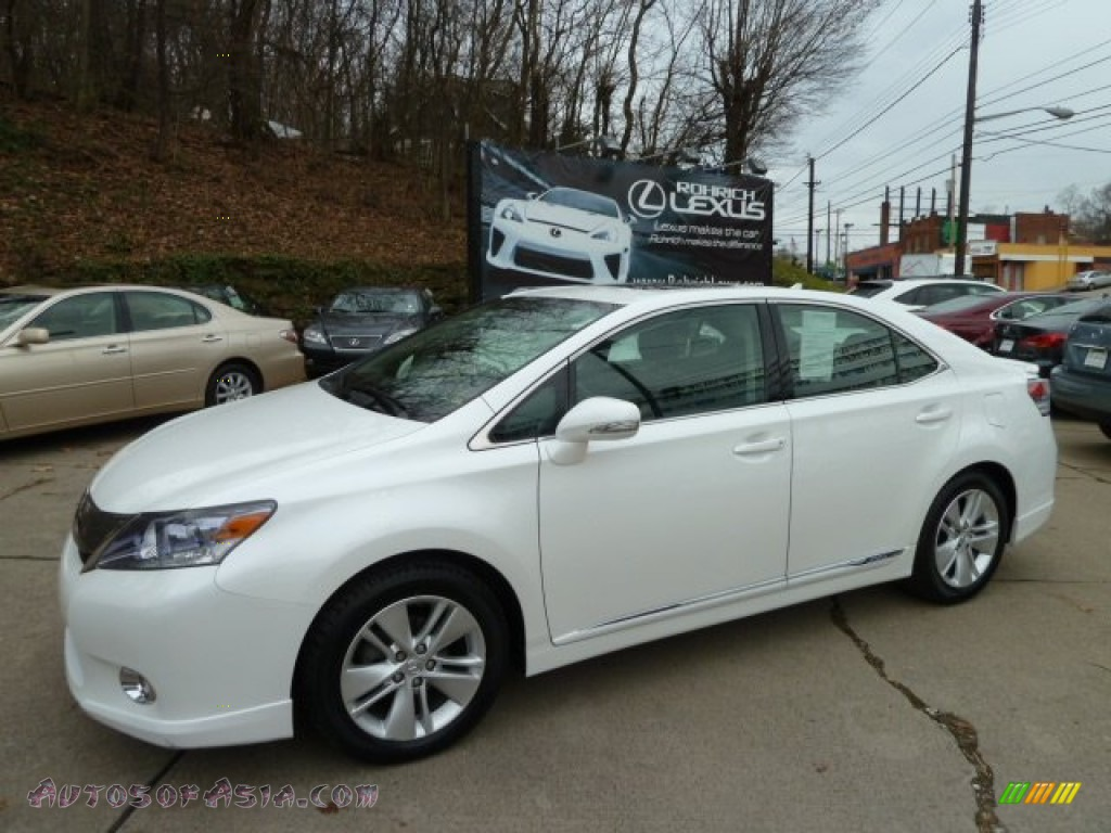 2010 lexus hs 250h hybrid premium in aurora white pearl 034663 autos of asia japanese and. Black Bedroom Furniture Sets. Home Design Ideas