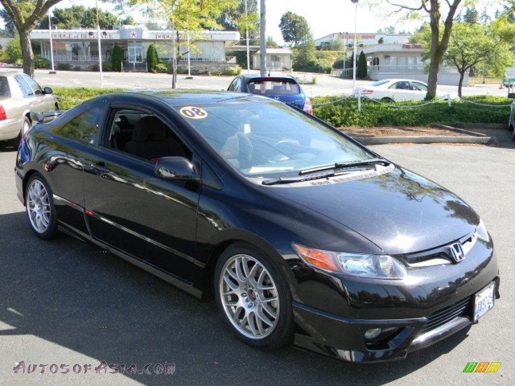 2008 honda civic si coupe in nighthawk black pearl photo 2 700067 autos of asia japanese. Black Bedroom Furniture Sets. Home Design Ideas