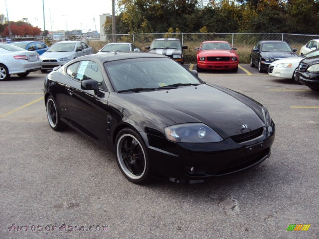 2006 hyundai tiburon gt in obsidian black 188793 autos of asia japanese and korean cars. Black Bedroom Furniture Sets. Home Design Ideas