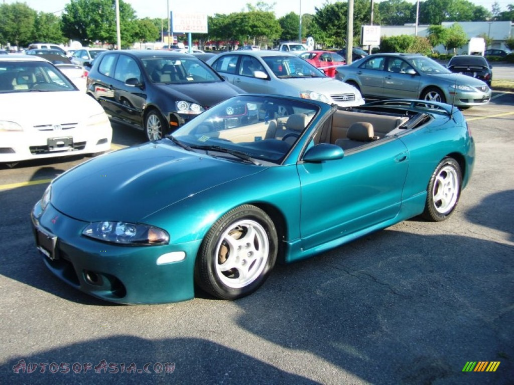 1997 Mitsubishi Eclipse Spyder Gs In Monarch Green Pearl