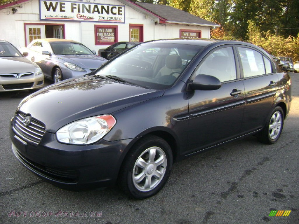 2006 hyundai accent gls sedan in charcoal gray 057538. Black Bedroom Furniture Sets. Home Design Ideas