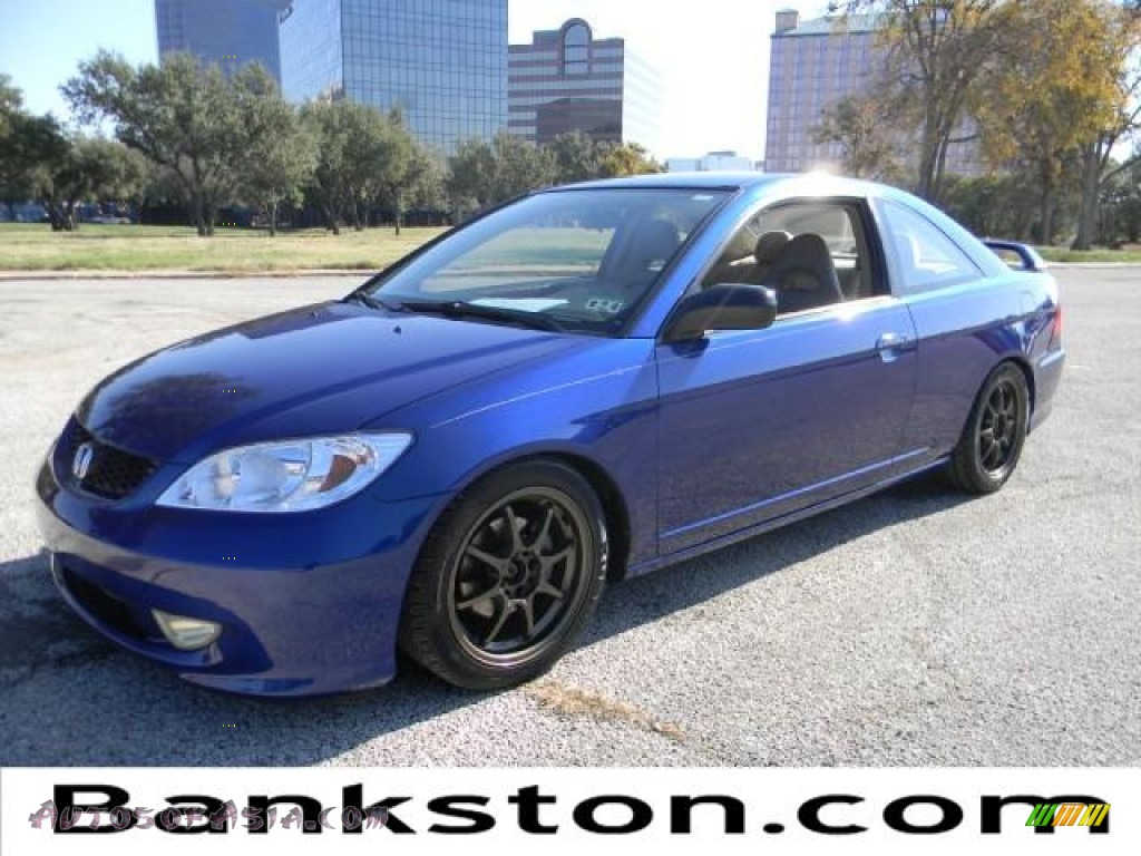 2004 honda civic lx coupe in fiji blue pearl 059696 autos of asia japanese and korean cars. Black Bedroom Furniture Sets. Home Design Ideas