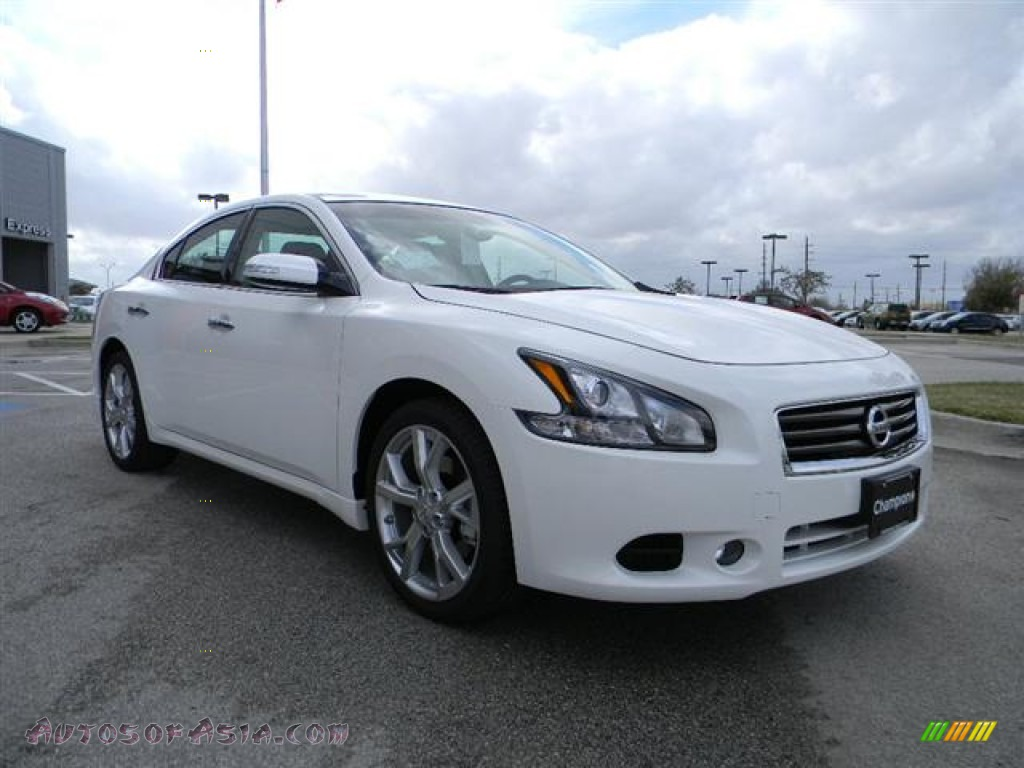 2012 nissan maxima 3 5 sv sport in winter frost white photo 3 817854 autos of asia. Black Bedroom Furniture Sets. Home Design Ideas