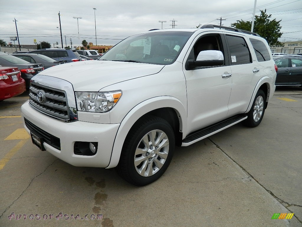 2012 toyota sequoia platinum in blizzard white pearl 038240 autos of asia japanese and. Black Bedroom Furniture Sets. Home Design Ideas