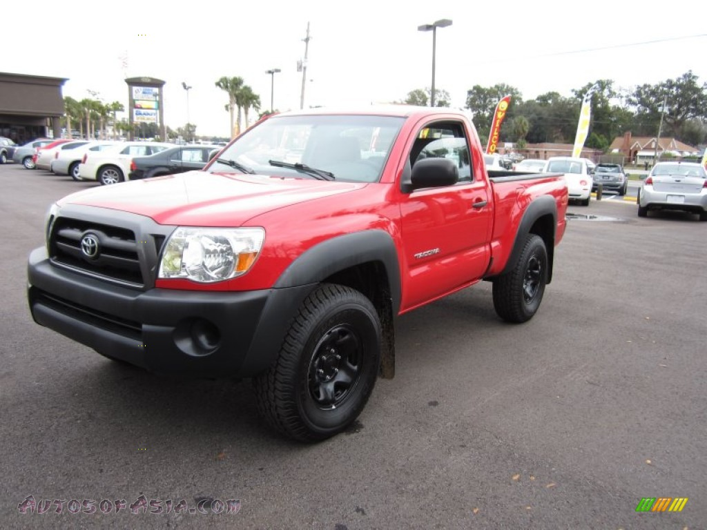2008 toyota tacoma regular cab 4x4 in radiant red 574780 autos of asia japanese and korean. Black Bedroom Furniture Sets. Home Design Ideas