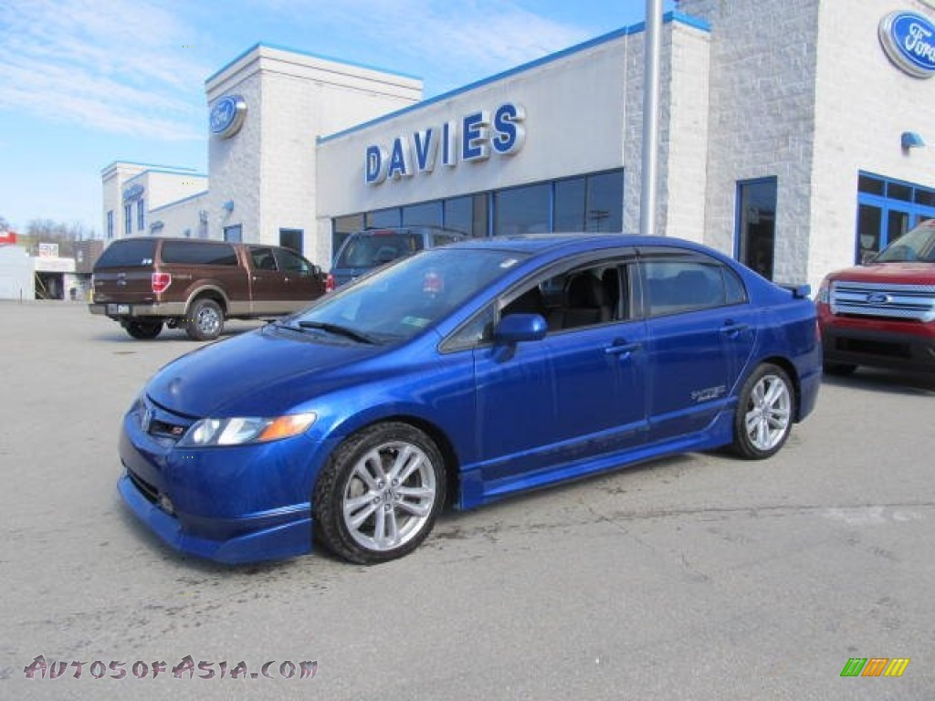 2007 honda civic si sedan in fiji blue metallic 706207 autos of asia japanese and korean. Black Bedroom Furniture Sets. Home Design Ideas