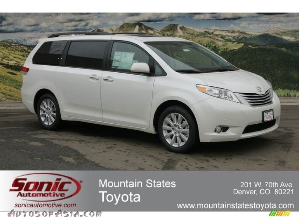 2012 Sienna Limited AWD - Blizzard White Pearl / Light Gray photo #1