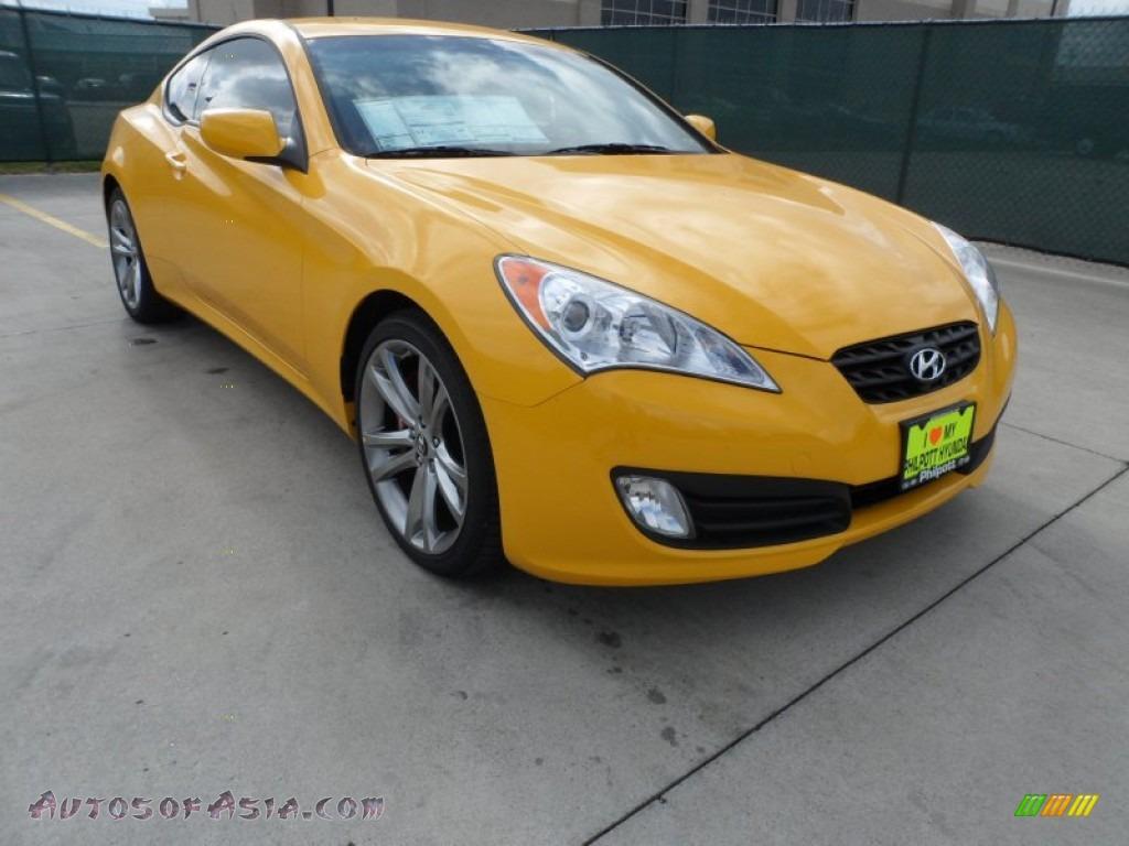 2012 hyundai genesis coupe 3 8 r spec in interlagos yellow 079495 autos of asia japanese. Black Bedroom Furniture Sets. Home Design Ideas