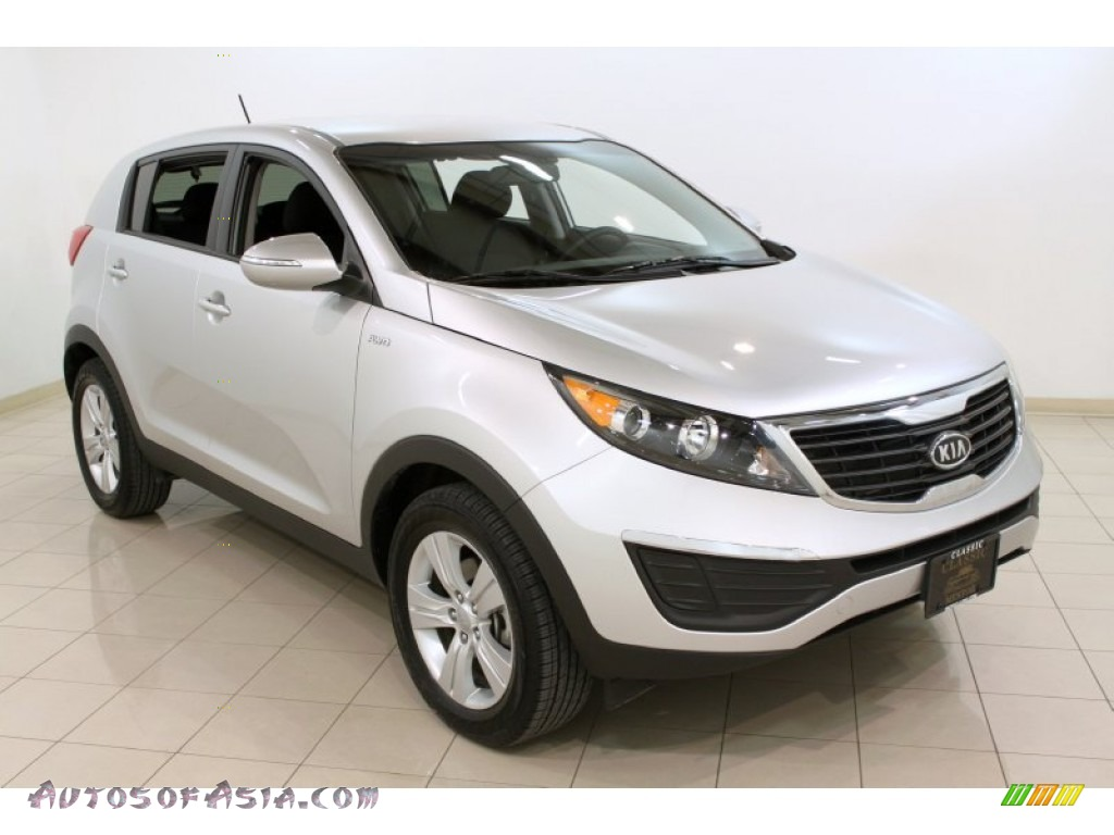 2012 kia sportage lx awd in bright silver 192453 autos of asia japanese and korean cars. Black Bedroom Furniture Sets. Home Design Ideas