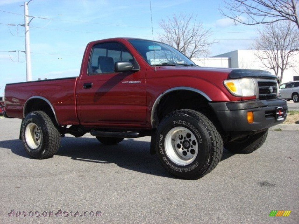 1998 toyota tacoma regular cab 4x4 in sunfire red pearl metallic photo 2 010371 autos of. Black Bedroom Furniture Sets. Home Design Ideas