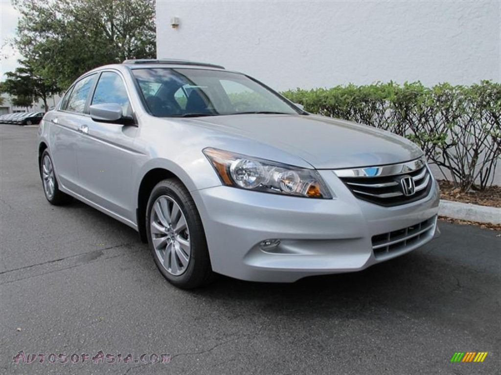 2012 honda accord ex l v6 sedan in alabaster silver metallic 012138 autos of asia japanese. Black Bedroom Furniture Sets. Home Design Ideas