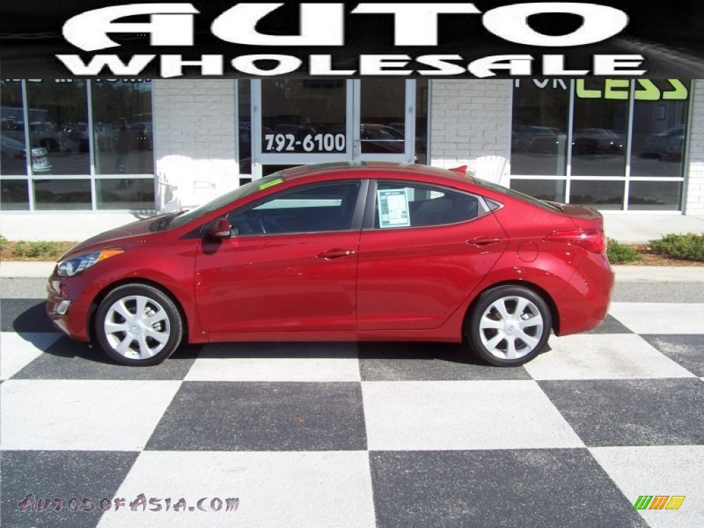 2011 hyundai elantra limited in red allure photo 5 087575 autos of asia japanese and. Black Bedroom Furniture Sets. Home Design Ideas