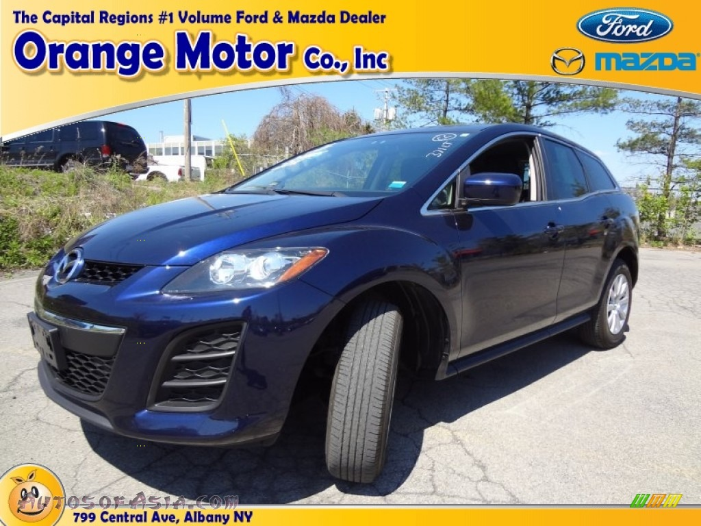 2010 mazda cx 7 i sport in stormy blue mica 328799 for Orange motors albany new york
