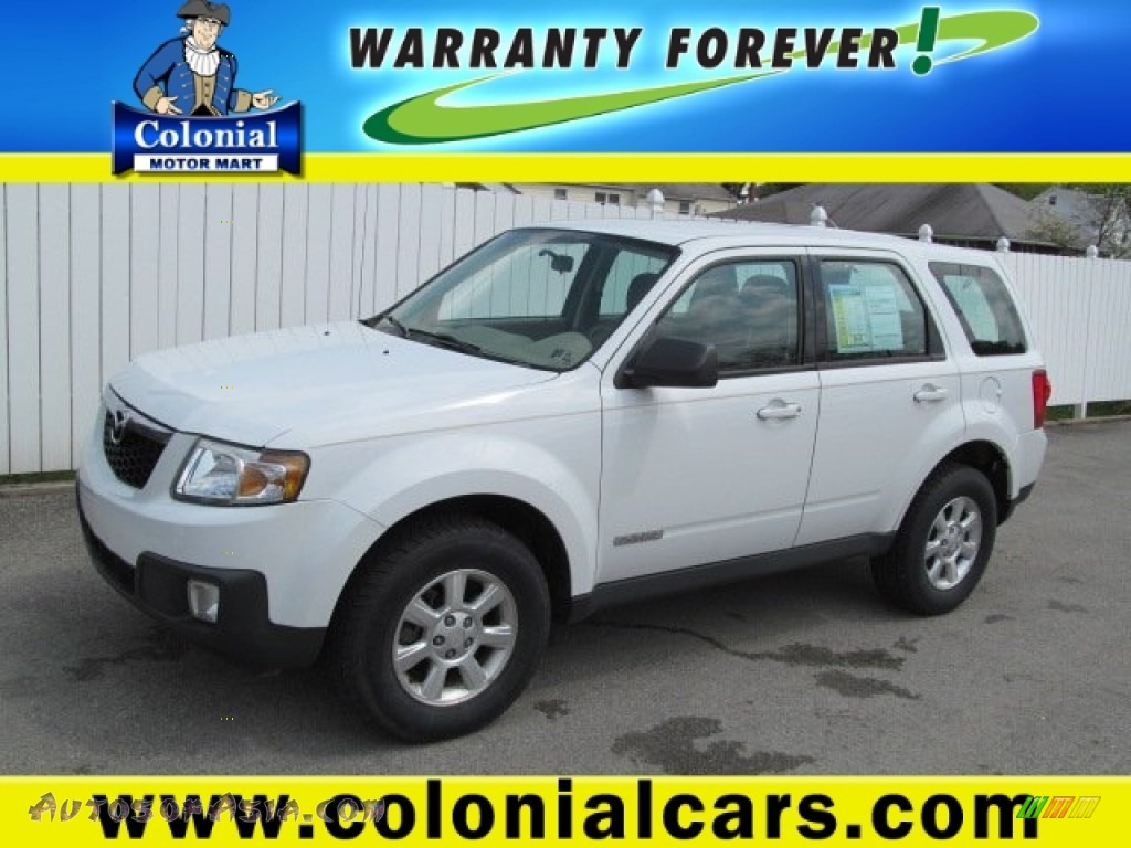 2008 mazda tribute i sport 4wd in classic white photo 16 for Colonial motors indiana pa
