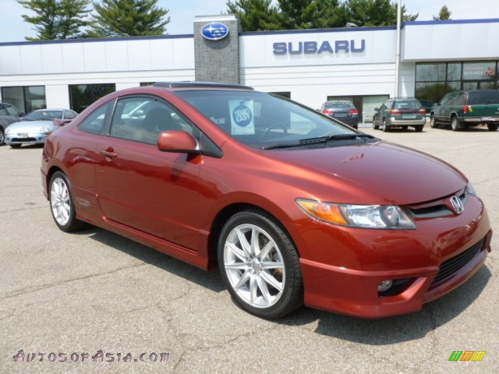 2006 honda civic si coupe in habanero red pearl 703236 autos of asia japanese and korean. Black Bedroom Furniture Sets. Home Design Ideas