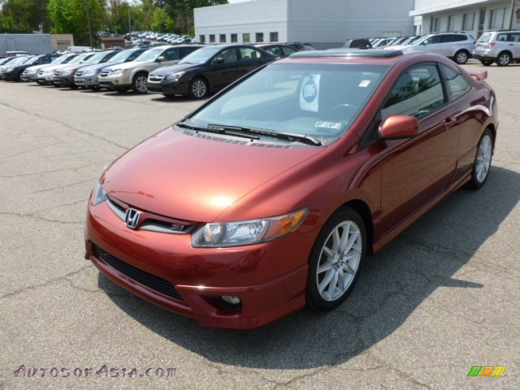 2006 honda civic si coupe in habanero red pearl photo 3 703236 autos of asia japanese and. Black Bedroom Furniture Sets. Home Design Ideas