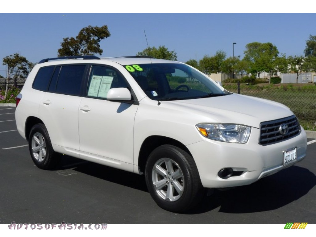 2008 Toyota Highlander In Blizzard White Pearl 040816 Autos Of Asia Japanese And Korean