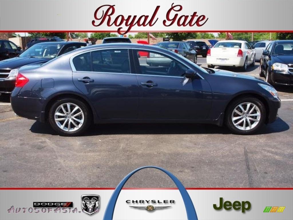 2009 infiniti g 37 sedan in blue slate metallic 309636 for Royal chrysler motors inc