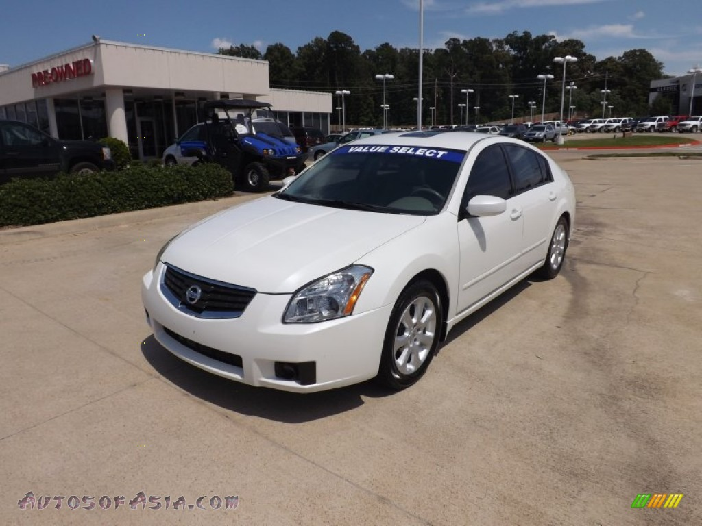 2008 nissan maxima 3 5 sl in winter frost pearl 834241 autos of asia japanese and korean. Black Bedroom Furniture Sets. Home Design Ideas