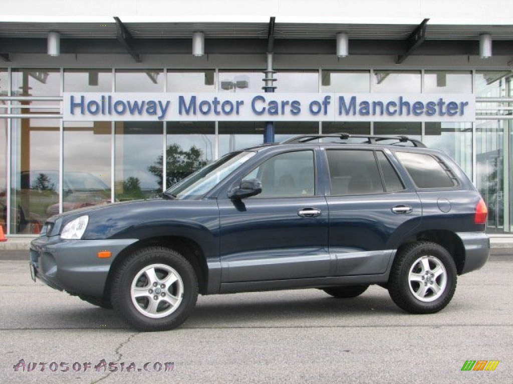 2004 Hyundai Santa Fe Lx In Moonlit Blue 816381 Autos